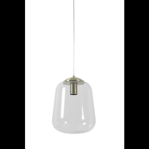 Hanglamp Colette transparant glas en koper in 2 maten