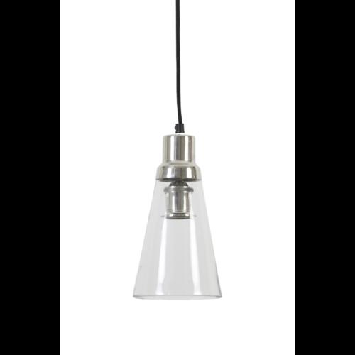Hanglamp Charlee transparant glas en nikkel