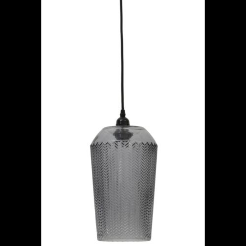 Hanglamp Cleo grijs glas