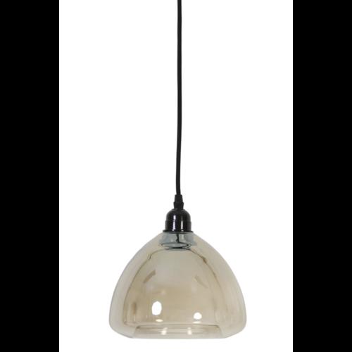 Hanglamp Calette metallic glas