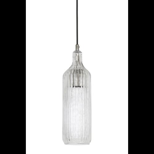 Hanglamp Claudette transparant glas en nikkel