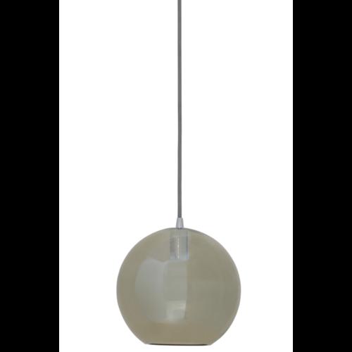 Hanglamp Cambria metallic amber glas in 3 maten