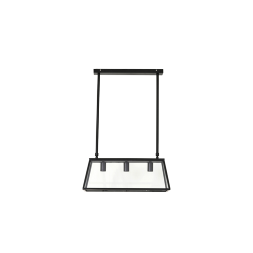 Hanglamp Carissa glas zwart in 3 maten