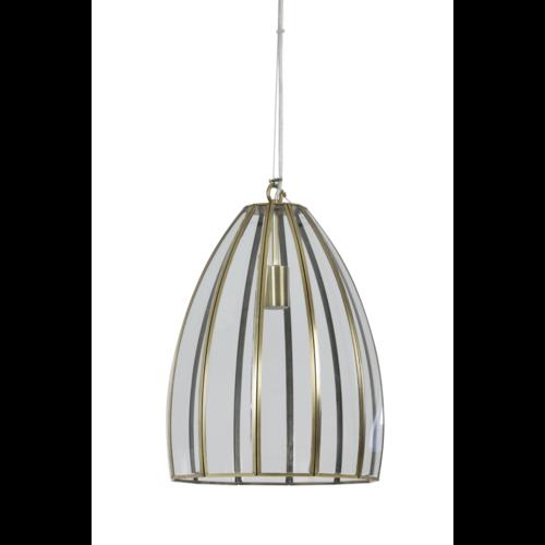 Hanglamp Charlize transparant glas en brons in 2 maten