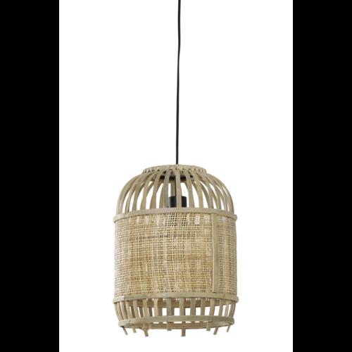 Hanglamp Lila Bamboe en Webbing in 2 maten