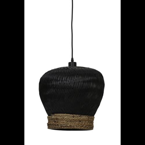 Hanglamp Letty zwart rotan