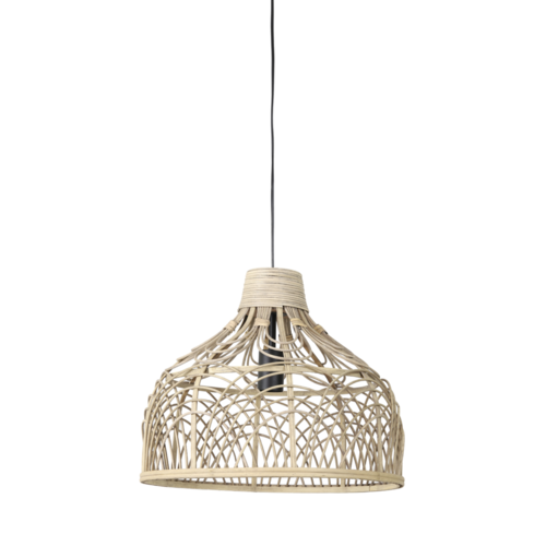 Hanglamp Laera naturel rotan in 2 maten
