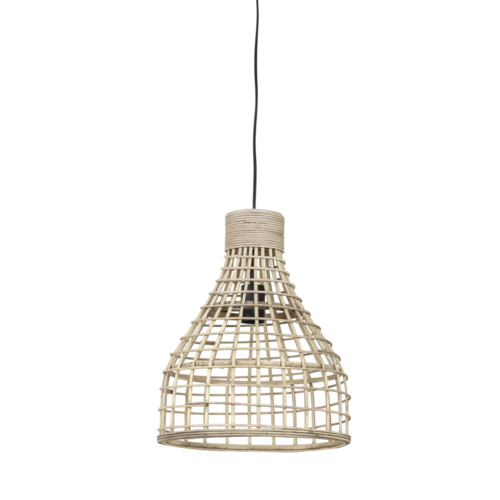 Hanglamp Lany naturel rotan in 2 maten