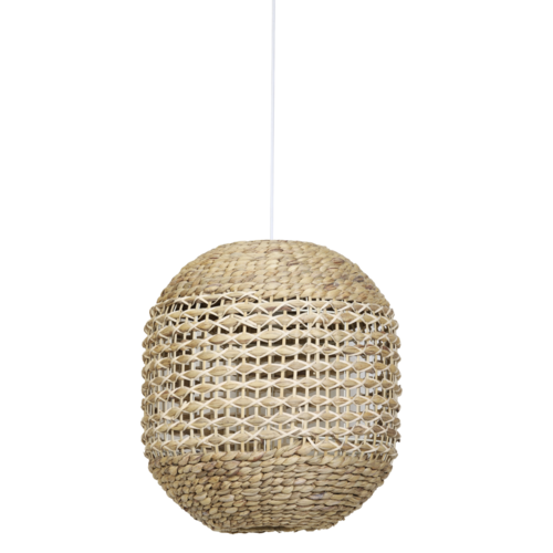 Hanglamp Lola Naturel en Wit Rotan in 2 maten