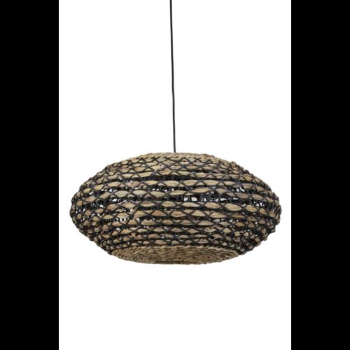 Hanglamp Lysse Naturel en Zwart Rotan