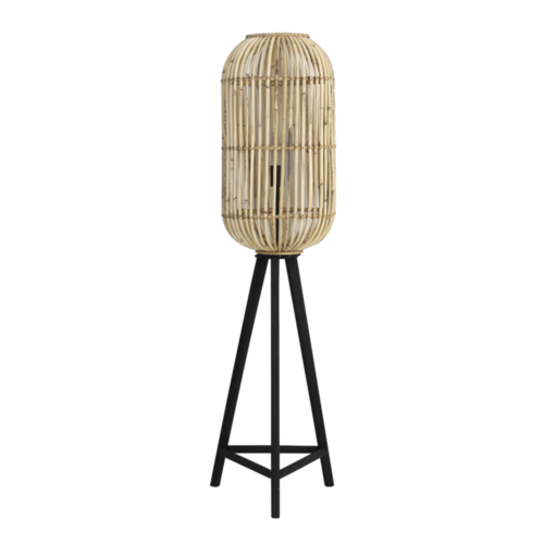 Vloerlamp Lincoln Driepoot Naturel Rotan