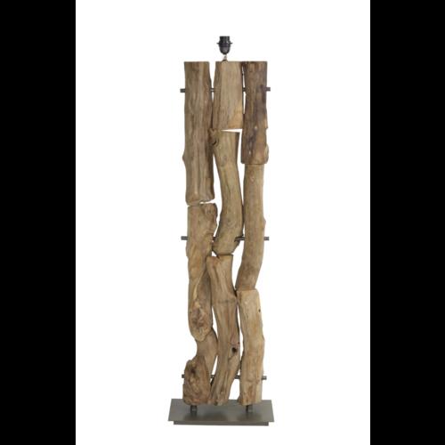 Vloerlamp Luella naturel houtstammen