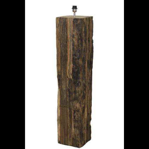 Vloerlamp Lennon naturel houten balk