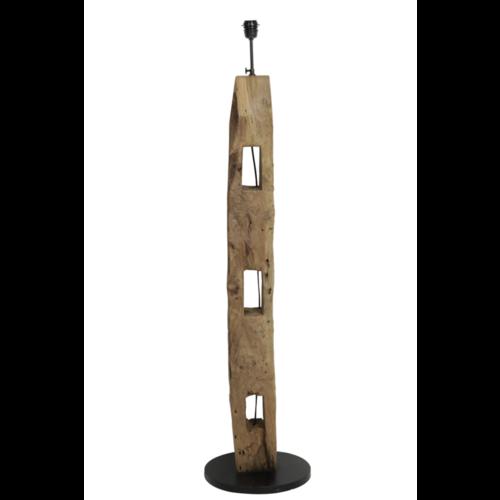 Vloerlamp Luddy naturel vintage houten balk