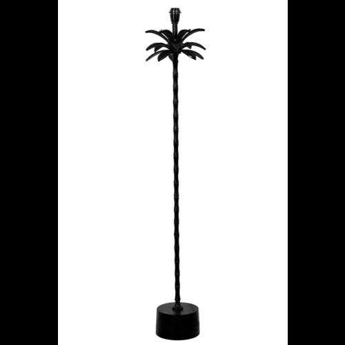 Vloerlamp Oaklee palmboom mat zwart metaal