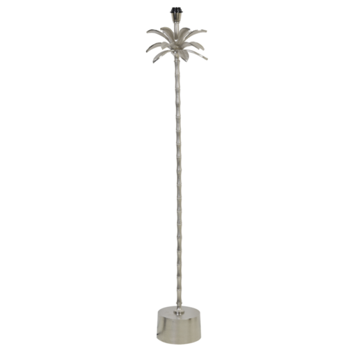Vloerlamp Oaklee palmboom nikkel
