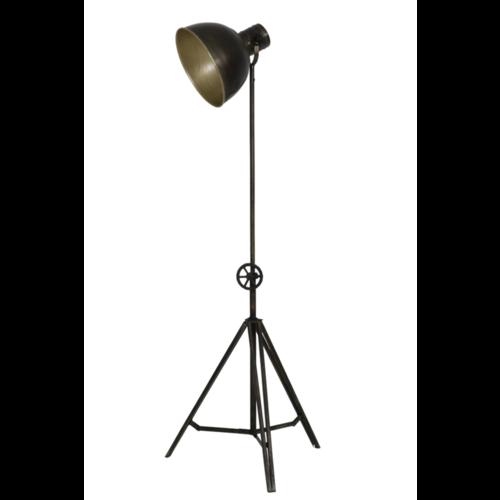 Vloerlamp Onna zwart en antiek brons
