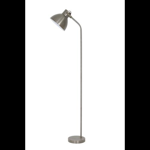 Vloerlamp Olena wit en vintage zilver