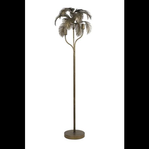 Vloerlamp Ojas palmboom antiek brons