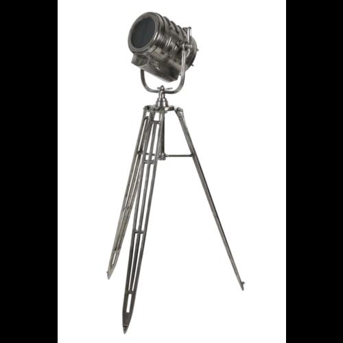 Vloerlamp Oberon antiek nikkel