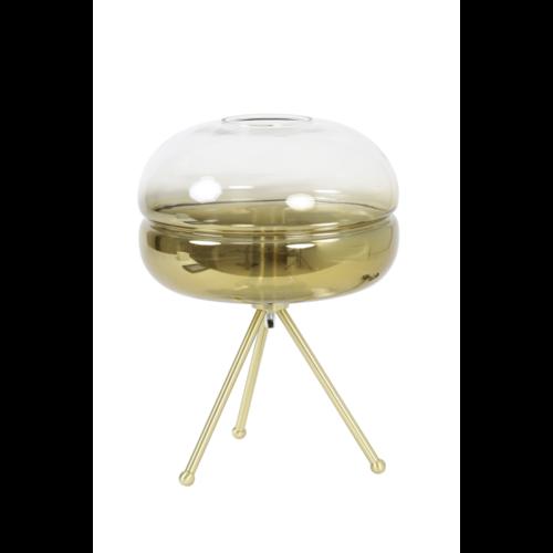 Tafellamp Clarissa goud en mat glas