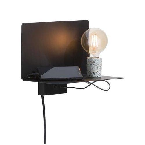 Wandlamp Omer met USB-poort