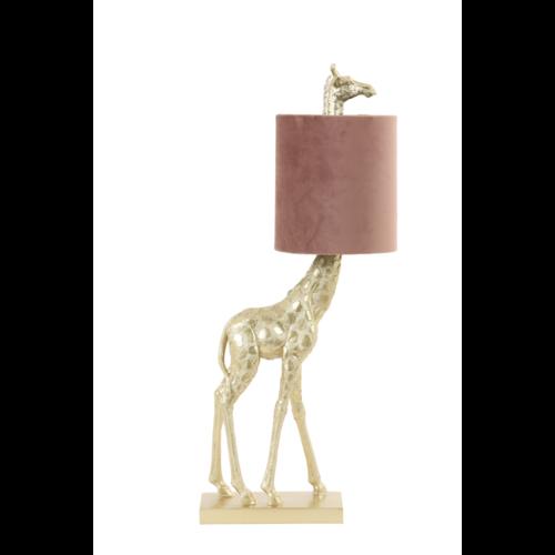 Tafellamp Girella goud en roze in 2 maten