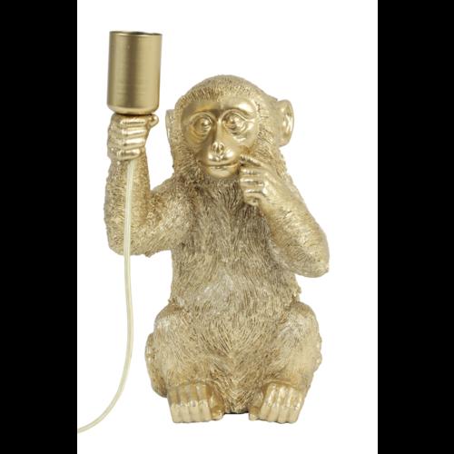 Tafellamp Coco aapje goud in 2 maten + ledlamp cadeau