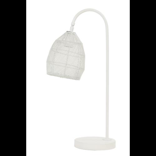 Tafellamp Olivette mat wit metaal