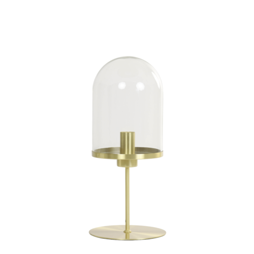 Tafellamp Erika goud en glas in 2 maten