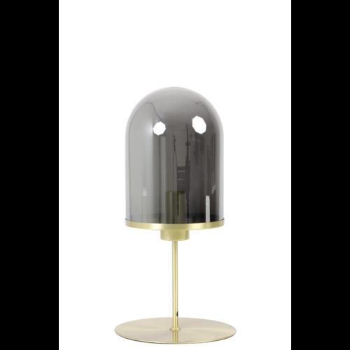 Tafellamp Erika brons en smoke  glas in 2 maten