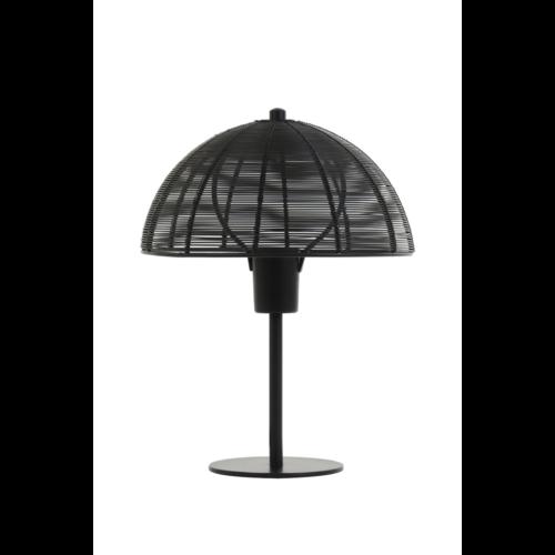 Tafellamp Estelle mat zwart metaal in 2 maten
