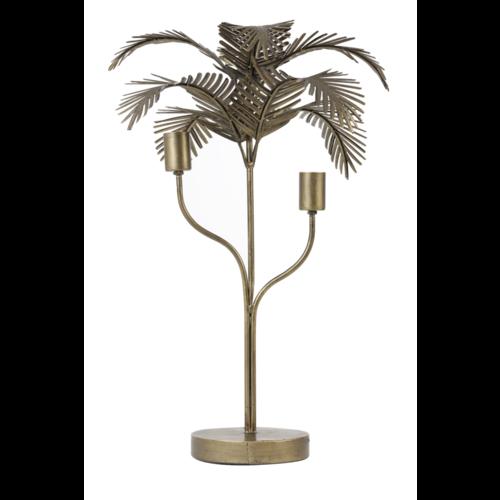 Tafellamp Ojas palmboom antiek brons