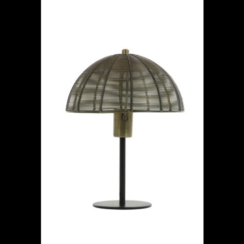 Tafellamp Estelle mat zwart en brons in 2 maten