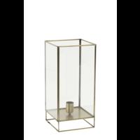 Tafellamp Emmaline glas en antiek brons in 2 maten