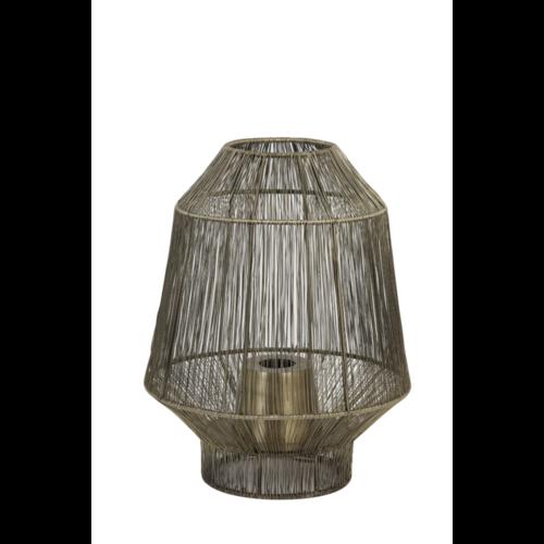 Tafellamp Ellison antiek brons in 2 maten