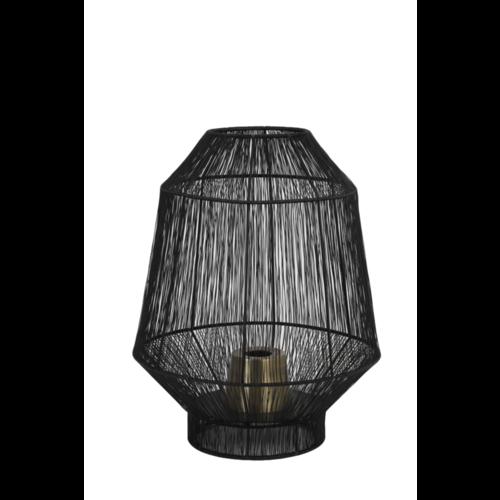 Tafellamp Ellison mat zwart metaal in 2 maten
