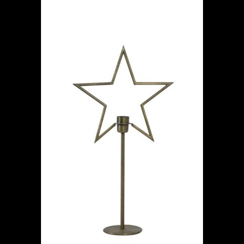 Tafellamp Ezra antiek brons in 2 maten