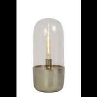 Tafellamp Endira goud en glas in 2 maten
