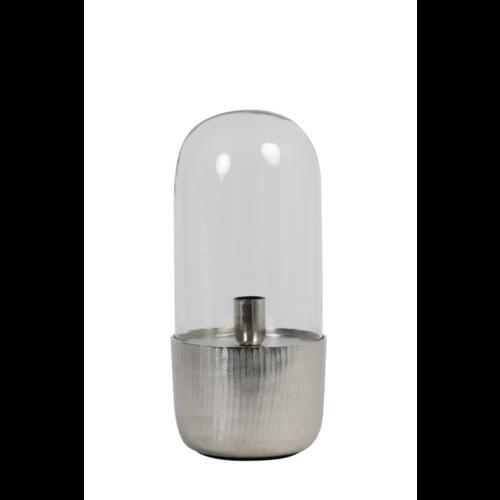 Tafellamp Endira nikkel en glas in 2 maten
