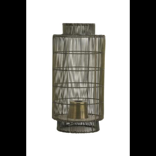 Tafellamp Oumou antiek brons