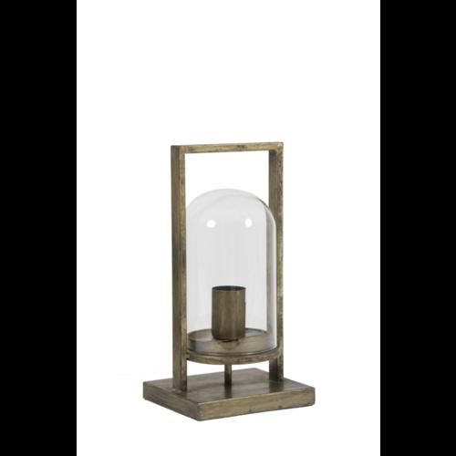 Tafellamp Endya brons en glas in 2 maten