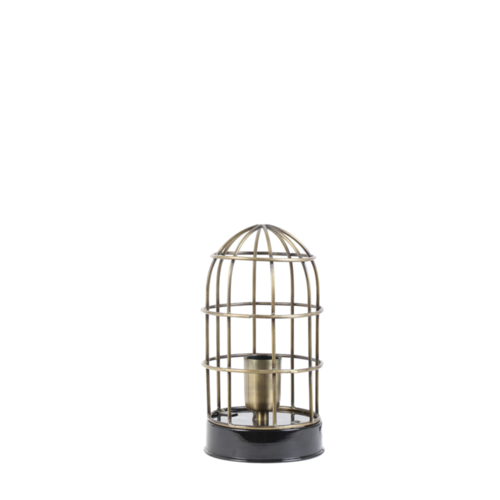 Tafellamp Eyra zwart en brons