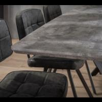 Eettafel Denzel betonlook grijs in 2 maten
