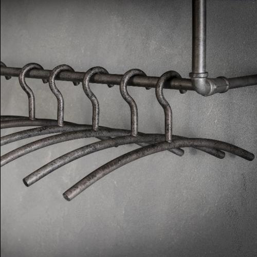 Garderobe hanger oud zilver