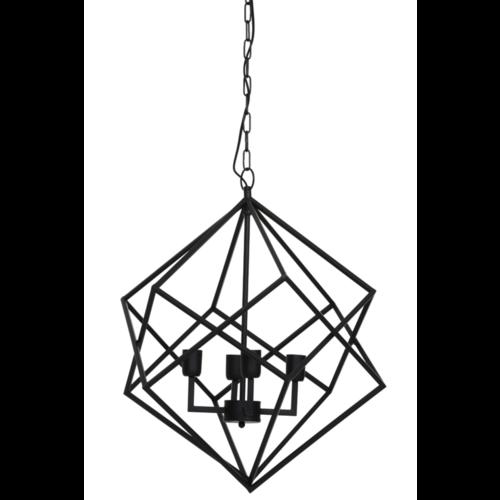 Hanglamp Frady mat zwart