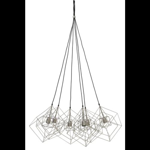 Hanglamp Faelynn zilvergrijs