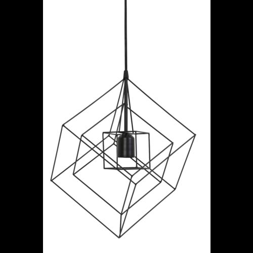 Hanglamp Faelynn mat zwart in 3 maten.