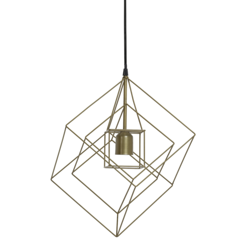 Hanglamp Faelynn antiek brons in 3 maten