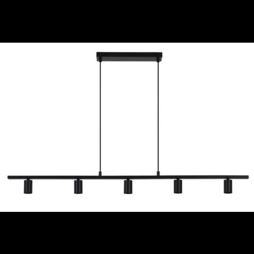 Hanglamp Fianna mat zwart metaal 5L